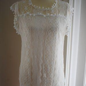 Dresses & Skirts - Boho Lace White Dress